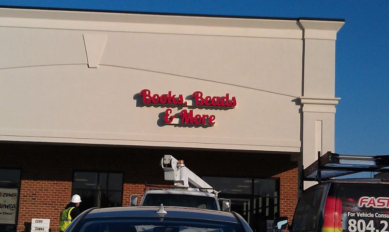 Books, Beads & More sign